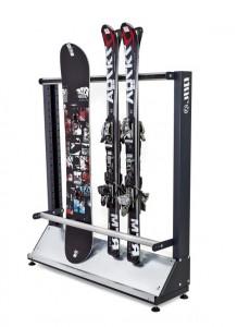 Односторонний стеллаж для хранения горных и беговых лыж и сноубордов