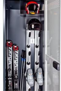 Запирающийся шкаф на четыре комплекта с функцией сушки
